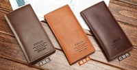 Free shipping.100% cow leather purse.genuine leather wallet.cheap.prefect card bag.HOT.5pcs/lot