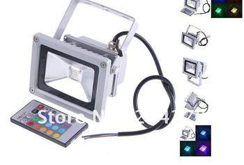 20W 85-265V RGB LED Flood Light Projection lamb Flash Landscape Floodlight Outdoor Color Change
