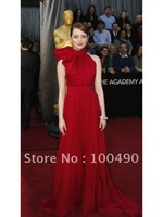 ED206 Emma Stone Oscar Academy Awards high Neck Dresses evening wholesale
