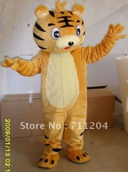Tiger Mascot Costumes Cartoon Character Costumes Halloween Fancy dress Tiger Cartoon doll clothing free shipping(China (Mainland))