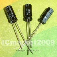 100 PCS 100uF/16V 5*11mm DIP 16V 100uF Aluminum Electrolytic Capacitor 100uF16V