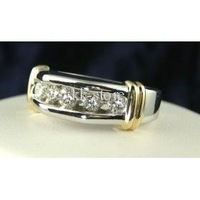 Wholesale - 2psc---1/2 CT Total Weight Genuine Diamond Mens Ring