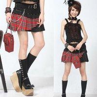Cotton Black Lace Lolita Skirt 71198