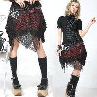 Gothic Multi Layered Lace & Mesh Skirt Black Punk GLP 71199