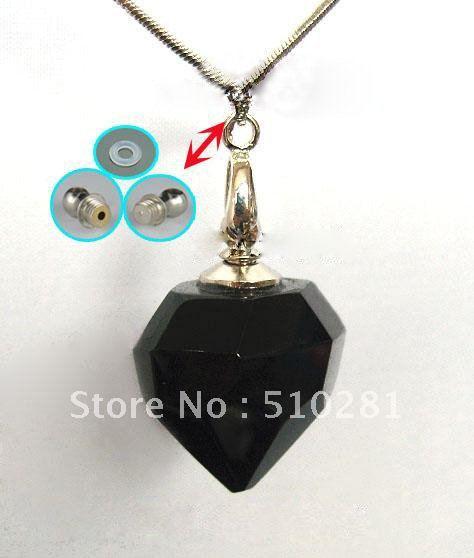 # para venda # magia gary cristal preto garrafas de aromaterapia essencial óleo garrafa frasco pingente de colar arte 2012(China (Mainland))