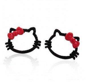 Free shipping! High fashion hello kitty Stud Earrings,shamballa earrings,wholesale,200 pairs/lot