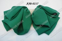 "12pcs/lot, 7"" large frosted chiffon bow hair clip with pearls AJB-0217 free shipping (black pink green navy orange yellow)"