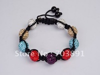 Fashion Beautiful crystal disco ball bracelet SH84