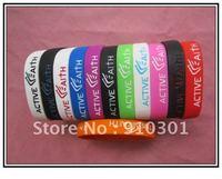 Free shipping  100pcs /lot New arrival sport silicone Bracelets ,fashion bracelet