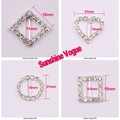 Rhinestone buckle, Mix design order accept, Crystal buckle, 100pcs/lot,full of crystal fit wedding ribbon and hair jewelry.