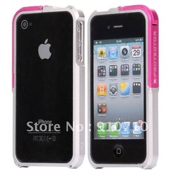 5 pcs/ lot X-protector Metal Frame Case for iPhone 4/iPhone 4S free shipping(China (Mainland))