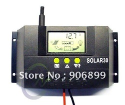 Solar Controller Regulator 30A 12V/24V Charge Battery Safe Protection CE Certify(China (Mainland))