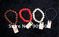 Free Shipping 100pcs/lot Good Wood Bracelet Hiphop Beads Hand Hand Bracelet
