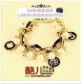 Free Shipping!   Black Flower Pearl Multilayer European Bracelet