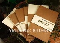 Free shipping  wholesale 10sets/lot (240pcs/lot) Kraft Post Card, Postcard ,DIY card /Post card