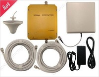 Wholesale WCDMA980 2100Mhz 3G mobile phone signal repeaters WCDMA 3G cell phones boosters with ceiling antennas 2000sqm coverage