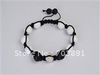 Fashion Beautiful crystal disco ball crystal white bracelet SH101