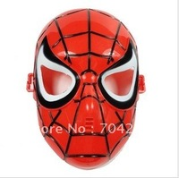 Hotsale 12pcs/lot  halloween plastic red spiderman mask  for party decoration