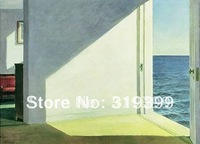 Oil Painting Reproduction,Rooms by Sea By Edward Hopper,Free Shipping via FeDex or DHL,100% handmade,EH018
