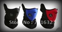 Free Shipping! hot sale 100pcs/lot Skiing Motorcycle Bicycle Skating Black/blue/red Face Mask Thermal Neck Warmer