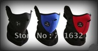 Free Shipping! hot sale 100pcs/lot Skiing Motorcycle Bicycle Skating Black/blue/red Face Mask Thermal Neck Warmer