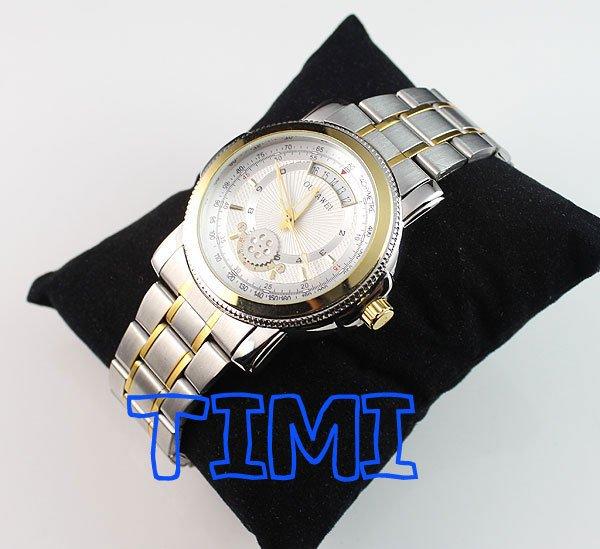 2012 New Aotumatic Mechanical Analog Mens Wrist Watch Stainless Steel china flash(China (Mainland))