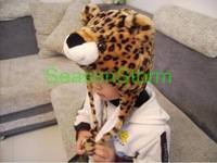 Min Order $20 (mixed order) Retail Plush Cartoon Leopard Ear Muff Hat / Halloween Winter Cap (SL-17)