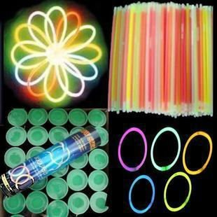 "100pcs 8"" Multi color hot glow stick led color flashing bracelet lighting flash sticks festival item FREE SHIPPING"