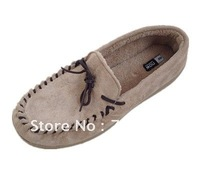 Men faux suede with soft coral fleece camel casual shoes
