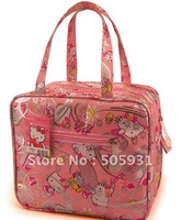 new hello kitty canvas shopping bag, multi function, can be used as lunch box bag or cosmetic bag, free shipping, 1 pc 1 lot