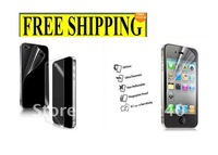Clear Full Body Cellphone Screen Protector Guard For i Phone 4 4S,With Retail Package 100pcs/lot,DHL,UPS,CAMP Free Shipping