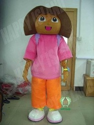 2012 brown face dora cartoon mascot(China (Mainland))
