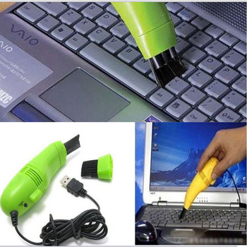 Free shipping USB Mini Vacuum Keyboard Cleaner Dust Wiper for PC Laptop Computer Cleaning #Yellow/Blue/Black