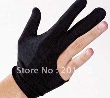 5 Pair X Cue Billiard Pool Shooters 3 Fingers Gloves Black New