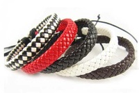 Pu Bracelet Jewelry Supplier Braid Leather Wrist  Strap Men Personalized Leather Bracelets