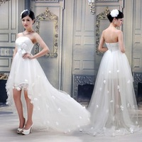 Free Shipping Off White Sexy Formal Dress Short Design Bridesmaid Dress Party Birthday Wedding Prom Gown MYE-035