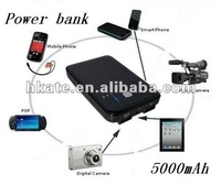 5000mAh Power Bank Portable Battery Pack for Iphone 4S Ipad Samsung HTC ATP01 free shipping by dhl 5pcs/lot
