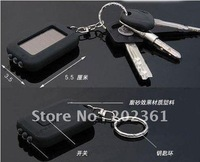 100pcs/lots 2-in-1 Fashion Solar Powered 3-LED Flashlight Key Chain with UV LED