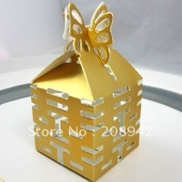 Best selling! EMS Free shipping! 200 pcs/lot chocolate box ,wedding candy box . Retail/wholesale