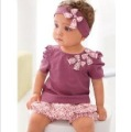 Free shipping 5sets/lot Wholesale 2011 Baby Summer (headband + shirt+ pant ) suit Baby clothes baby wear in stock