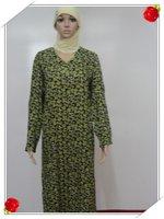 Muslim gown Saudi Arab islamic women's dress with female Muslim female robe s479