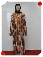 Muslim gown Saudi Arab islamic women's dress with female Muslim female robe s491a