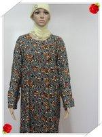 Muslim gown Saudi Arabia dress Sunday clothes female robe  s481