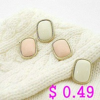 Min.order is $10 (mix order) Fashion Earring.Metal Stud Earrings 2 Colors Korean Style Free shipping Ke021