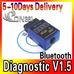 ELM327 Bluetooth OBD-II Protocols Auto Diagnostic Scanner Reviews Tool fo Vehicle Free Shipping