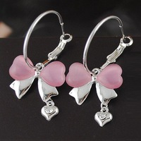 E1182 South Korea edition new adorn article New bowknot bearings 2012 Fashion Jewelry Free Shipping