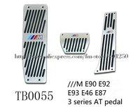 HOT sell ///M AUTO AT Aluminum M Pedal Set 323 328i 330 335 M3 E90 E92 Coupe E93 E46 E87