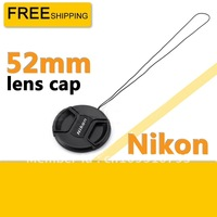 52mm Lens Cap for Nikon D7000,D5100,D5000,D3100,D3000 18-55mm with cord
