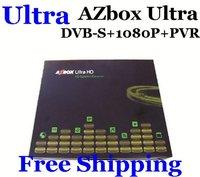 Ultra AZBOX Ultra DVB-S Satellite Receiver Linux Full HD 1080P PVR Blind Scan DHL Free Shipping New  2pcs