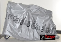 Free shiping Cycling Bicycle Cover Bike Waterproof Protection Garage gray x 5 pcs